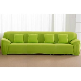 High Quality Store New Fashion Singal Textile Spandex 4 SeatersSofa Cover Furniture Protector Couch Slipcover HomeDecoration(green) - intl