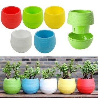 Harga High Service 20PCS Plastic Pots With Drainage Hole Flower BucketBalcony Planter Colorful Garden Home Ornaments - intl