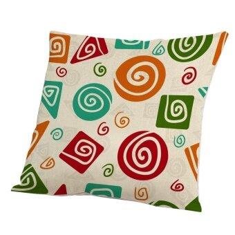 Home Decor Geometry Cotton Linen Pillow Case Sofa Throw Cushion Cover - intl