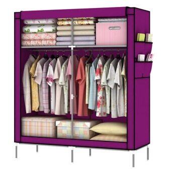 Hommy ตู้เสื้อผ้า 2 บล๊อค - สีม่วง B-10
