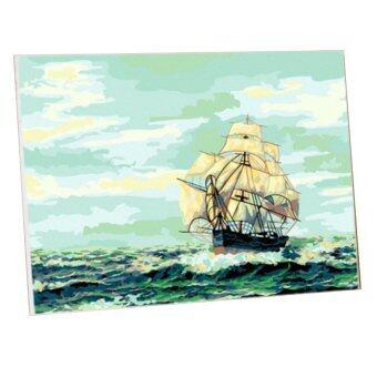 Honey Pen ภาพระบายสีตามตัวเลข เรือสำเภาแห่งความราบรื่น ขนาด40 x 50