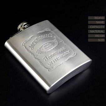 Hot Fashion Portable Engraved 7oz Stainless Steel Hip Flask Personalized Flasks Color:Stainless steel - intl