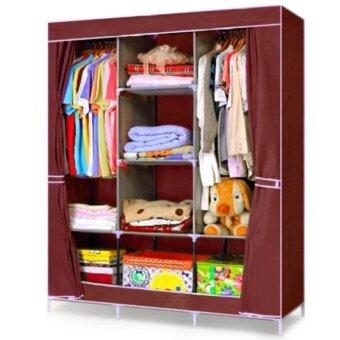 HOUSE BRAND ตู้เสื้อผ้า พร้อมผ้าคลุม 3 บล็อค รุ่น R303 (สีแดง)