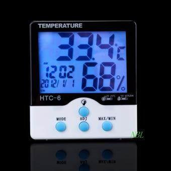 เครื่องวัดอุณหภูมิ และความชื้น -วัน-เวลา รุ่น HTC-6