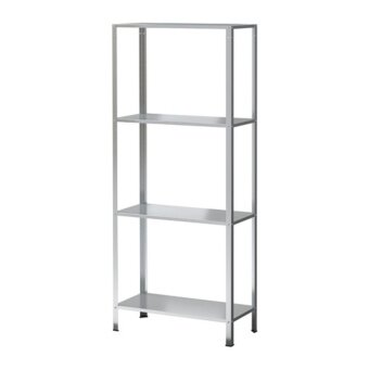 IKEA ชั้นวาง Hyllis 4ชั้น เหล็กชุบกัลวาไนซ์ 60 x 27 x 140 ซม.