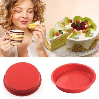 Harga 8 Inches Non-stick Silicone Cake Pans / Pie Bread Loaf Baking Dishes / Cake Mold Bakeware Tools For Microwave And Oven