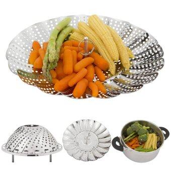 Harga niceEshop Adjustable Food Steamer Vegetable Steamer Stainless Steel Steamer Basket With Feet ,5.5inch-9inch