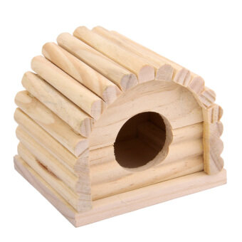 Harga Natural Wooden Hamster House Dome Toy Detachable for Hamster Mouse Gerbil