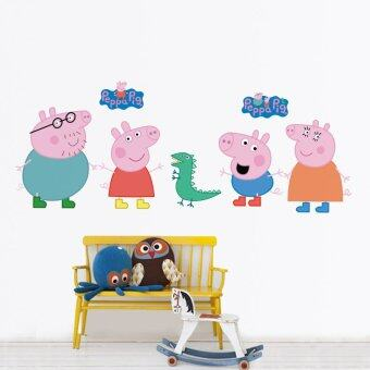 Harga JinGle DIY Removable Peppa Cartoon Pig Waterproof PVC Wall Sticker (Multicolor)