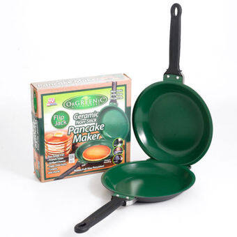 Harga Green Non Stick Pancake maker Ceramic Cookware Pan - intl
