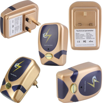 Harga 5 PCS Crony Electricity Power Factor Saver Electricity Saving Box Voltage 90V-250V (Gold)