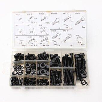 Harga 240PC Nut And Bolt Washer Lock Assortment Set in Storage Case M4 M5 M6 M8 M10 (Intl)
