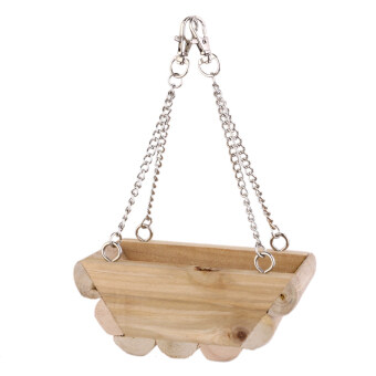 Harga Wooden Hanging Boat Swing Mouse Parrot Bird Cat Hamster Bed Cage Toys