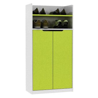 Image ตู้วางรองเท้าคาสโต้ 2 ประตู (สีเขียว-ขาว)