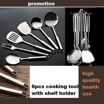 Harga cooking tool set meat fork stainless steel cookware spatula sooktops 7 pieces set spoonfuls full set shovel