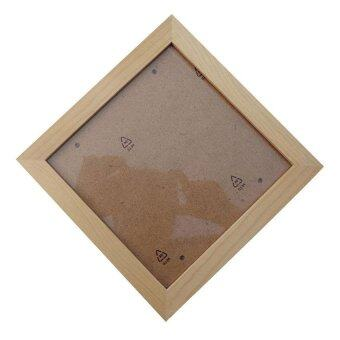 Harga LZ Square Thick Pine Wood Photo Frame Wall Picture Frame(Wood Color,8 Inch) - intl