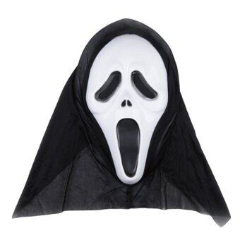 Harga Scary face screaming ghost mask Halloween party dress well, with a hood