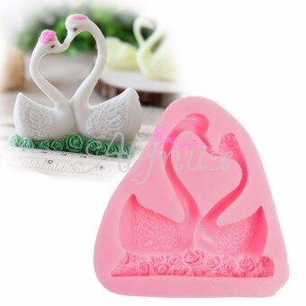 Harga Swan Couple Silicone Fondant Mould Sugar Craft Chocolate Decorating Tool