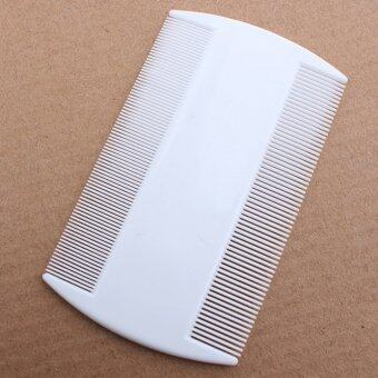 Harga White Durable Double Sided Nit Combs for Head Lice Dectection Comb Kids timangan kesayangan Flea (Intl)