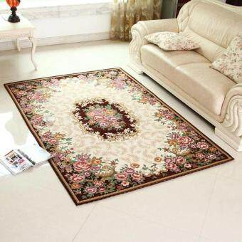 Harga 50x80cm European-style Jacquard Sofa Floor Mats Doormat Rugs and Carpets Area Rug for Home Decoration - intl