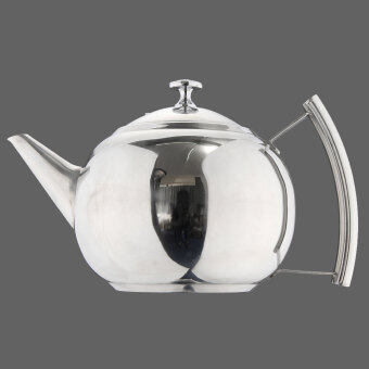 Harga Stainless Steel Teapot Tea Pot Coffee With Tea Leaf Filter Infuser New 2L - Intl