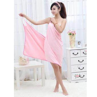 Harga Fashion Lady Girls Wearable Fast Drying Magic Bath Towel Beach Spa Bathrobes Bath Skirt - intl