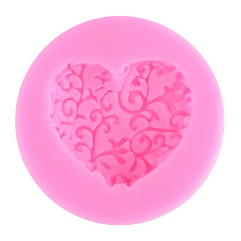 Harga 3 D heart bud sugar cake mould (pink)