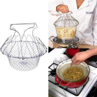 Harga Multifunction Stainless Steel Telescopic Folding Basket Chef Basket - intl