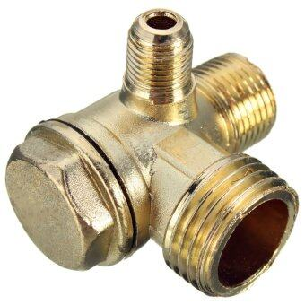 Harga Brass Male Threaded Check Valve Connector for Air Compressor D:5mm/10mm/15mm - Intl