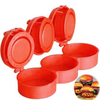 Harga 3 slot Plastic Hamburger Presses Burger Maker Meat Pie Press Kitchen Tool - intl