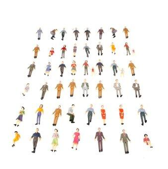 Harga 50pcs G Scale 1:30 Mix Painted Model People Train Park Street Passenger Figures