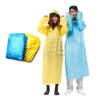 Harga Adult Portable Disposable raincoat Color Send By Radom (Blue&Yellow)