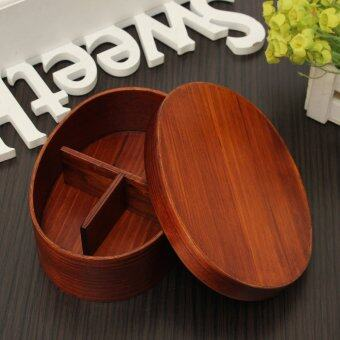 Harga Japanese Bento Box Wood Lunch Box Handmade Natural Wood Sushi Box Tableware Bowl - intl