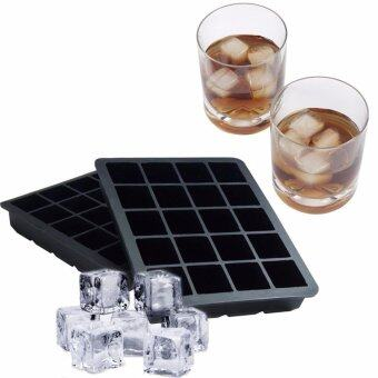 Harga Pack of 2 Silicone Ice Cube Tray, Ice Cube Molds, 1 Inch, 20 Cubes,Black - intl