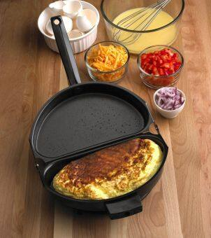 Harga Portable Folding Pot Non-stick Omelet Pan Stovetop Cookware With Lid - intl