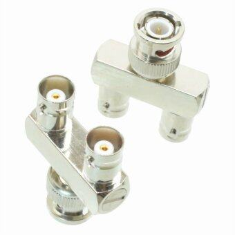 Harga Fliegend 10pcs Adapter BNC male plug to 2x BNC female jack Y Splitter RF COAXIAL
