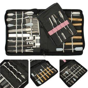 Harga 46pcs/Set Portable Vegetable Fruit Food Wood Box Peeling Carving Tools Kit Pack - intl