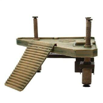 Harga High Quality Reptile Turtle Frog Pier Platform With Ramp Ladder