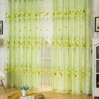 Harga Sunflower Room Window Curtains Door Sheer Voile Panel Drapes Scarfs Valances - Intl