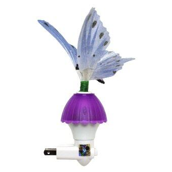 Harga niceEshop Butterfly Optic Fiber Color Changing Night Light Show (Purple)