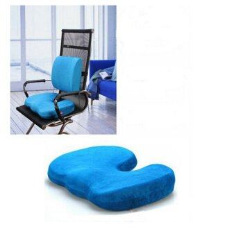 Harga Office Chair Orthopedic Seat Cushion Release Pillow Memory Foam Back Ache Pain New - intl
