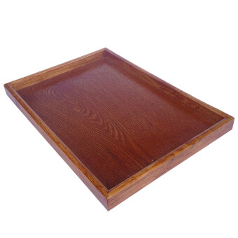 Harga BolehDeals Natural Wood Serving Tray SPA Tea Food Server Dishes Platter Brown Plate-XXL - intl
