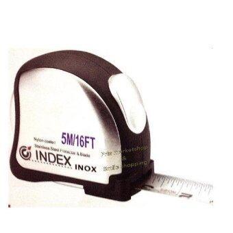 Index ตลับเมตร แสตนเลส 5 เมตร รุ่น INOX ไม่กลัวน้ำทะเล