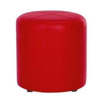 ประกาศขาย Index Living Mall เก้าอี้สตูลทรงกลม หุ้มหนังพีวีซี 42x44ซม (รุ่น RUBY) - สีแดง