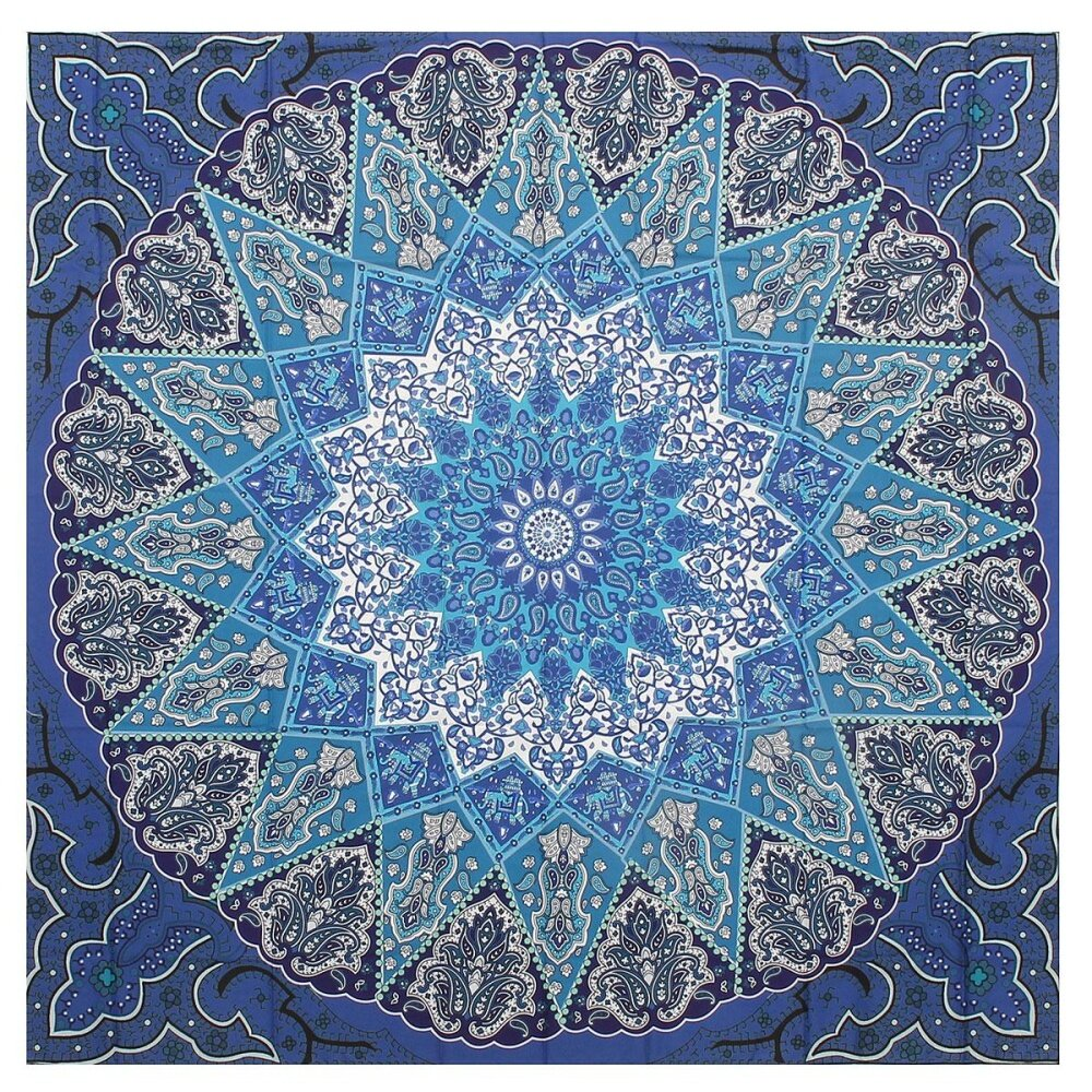 Indian Mandala Tapestry Hippie Wall Hanging Bohemian Bedspread Decor Beach Mat - intl .