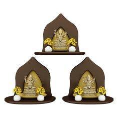 Innolife หิ้งพระหมู่ 1 Mini Buddha Shelf รุ่น S3-H-BR7106-ES เซต 3ชิ้น (สีเอสเพรสโซ่)