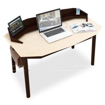 Innolife โต๊ะทำงาน รุ่น Digi Scorpio สีทูโทน (สีเอสเพรสโซ่/ไวท์วอส)