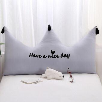 INS หมอนอิงพู่พนักพิงผ้าขนหนูปักข้างเตียง