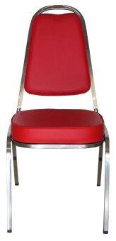 ขายด่วน Inter Steel เก้าอี้จัดเลี้ยง รุ่นCM001 โครงโครเมี่ยม - เบาะสีแดงสด