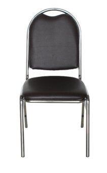 Inter Steel เก้าอี้จัดเลี้ยง เก้าอี้สัมนา เก้าอี้นั่งกินข้าวรุ่นCM002A โครงโครเมี่ยม (เบาะสีน้ำตาล)